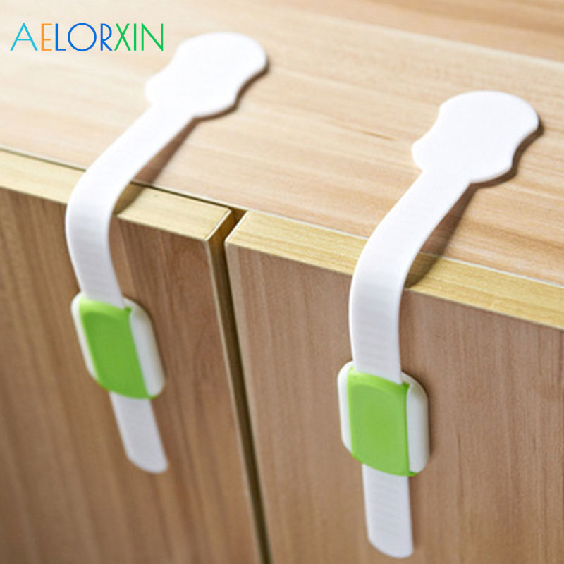 2Pcs Lot Child Drawer Cabinet Lock Protection Of Children Kids Safety Protection From Children Baby Safety Child Lock Closet in Cabinet Locks Straps from Mother Kids