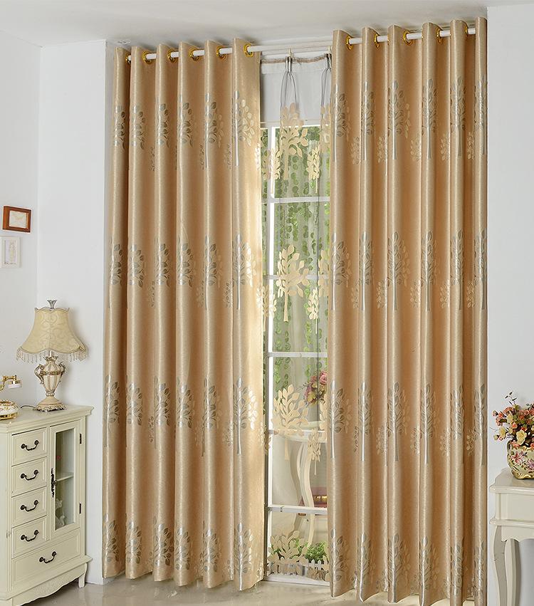 fyfuyoufy estilo europeo simple rboles impreso cortina dormitorio sala de estar de lujo doble jacquard cortina
