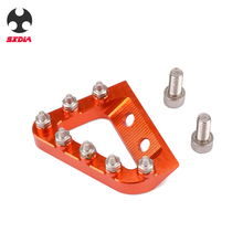 Motorcycle Foot Rear Brake Pedal Lever Step Tip Plate For KTM 125 250 350 450 SX SXF EXC EXCF XC XCF XCW Husqvarna TE FE TC FC