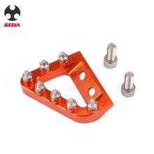 Plaque de butée de levier de frein arrière, pour KTM 125, 250, 350 et 450, SX SXF, EXC, EXCF, XC, XCF, XCW, Husqvarna TE, FE et TC FC