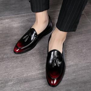 Image 5 - الرجال فستان أحذية اليدوية حذاء رجالي Paty الجلود أحذية الزفاف الرجال الشقق الجلود أوكسفورد الأحذية الرسمية
