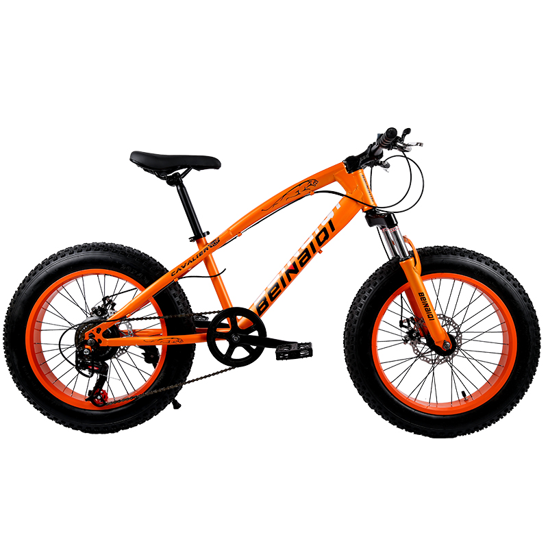 KUBEEN new arrival 7/21/24/27 speeds Disc brakes Fat bike 20 inch 20x4.0 Fat Tire Snow Bicycle Oil spring fork