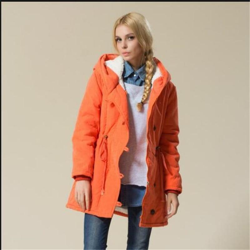 ФОТО 2016 New Fashion Fall Winter Women Loose Leisure Hooded Thicken Keep warm Big yards Medium long Cotton-padded jacket Coat G1158