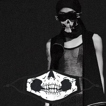 Прохладный Череп Для женщин Для Мужчин Мультфильм шелк Лев Тигры Великобритании маска Черный Велоспорт Anti-Dust Хлопок милые модные рот маска ...