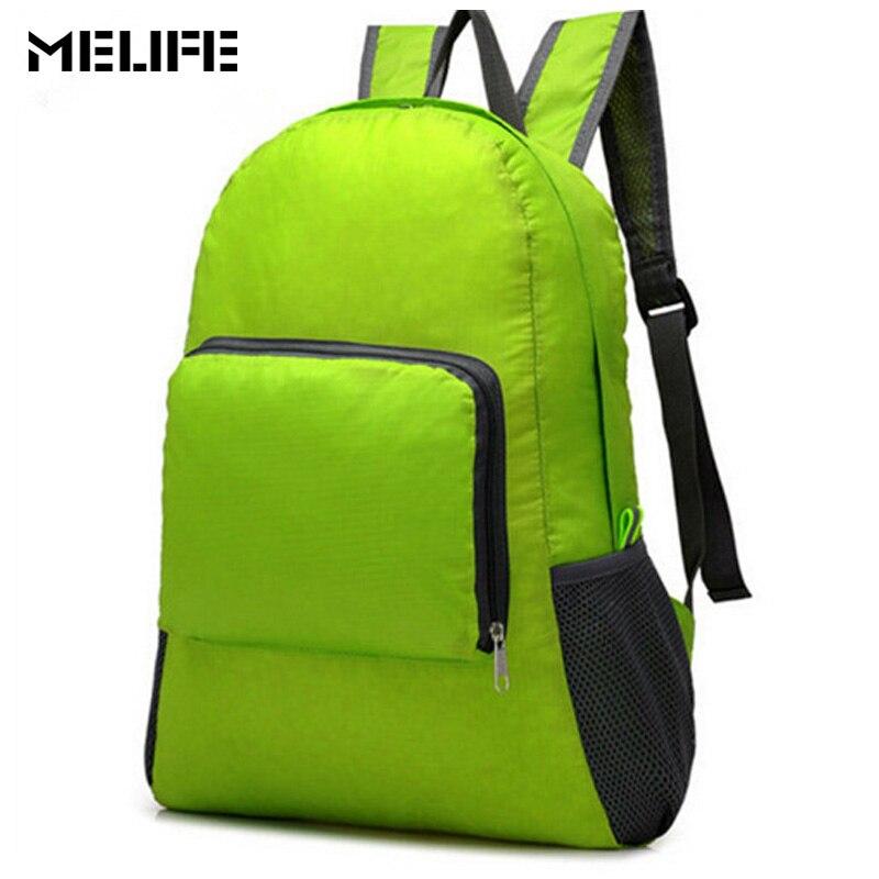 MELIFE Waterproof Sport Bag Lightweight Folding backpack Women Travel Rucksack Men Outdoor Camping Nylon Foldable shoulder bags