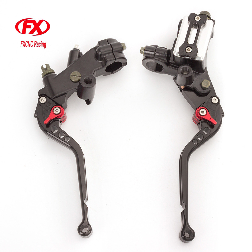 FX 7/8 22mm 125-300cc Motorcycles Brake Clutch Levers Master Cylinder Reservoir For Kawasaki ZZR250 1990 - 1994 1991 1992 1993 7 8 22mm universal motorcycles brake clutch levers master cylinder reservoir for suzuki 125 300cc moto hydraulic brake lever