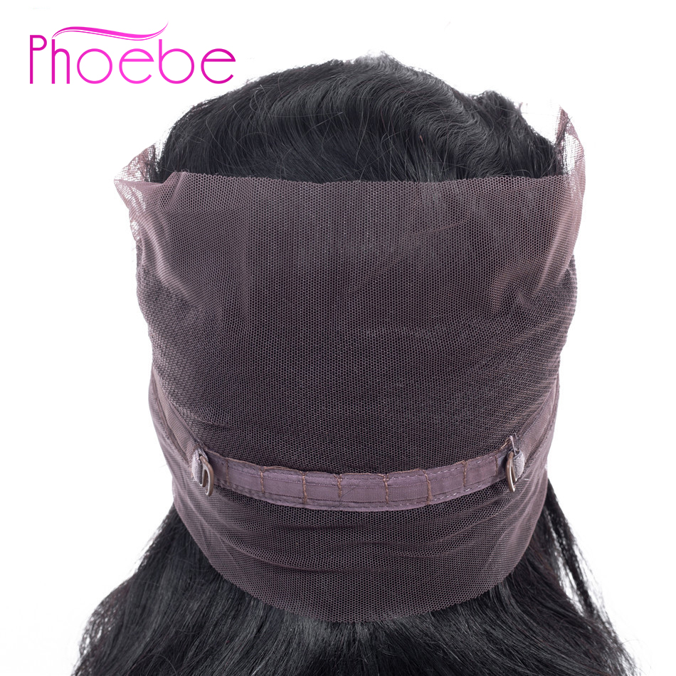 Phoebe Hair Pro-Colored Indian Straight Hair 360 Lace Frontal Closure With Baby Hair Lace Frontal Natural Color Non-Remy Hair