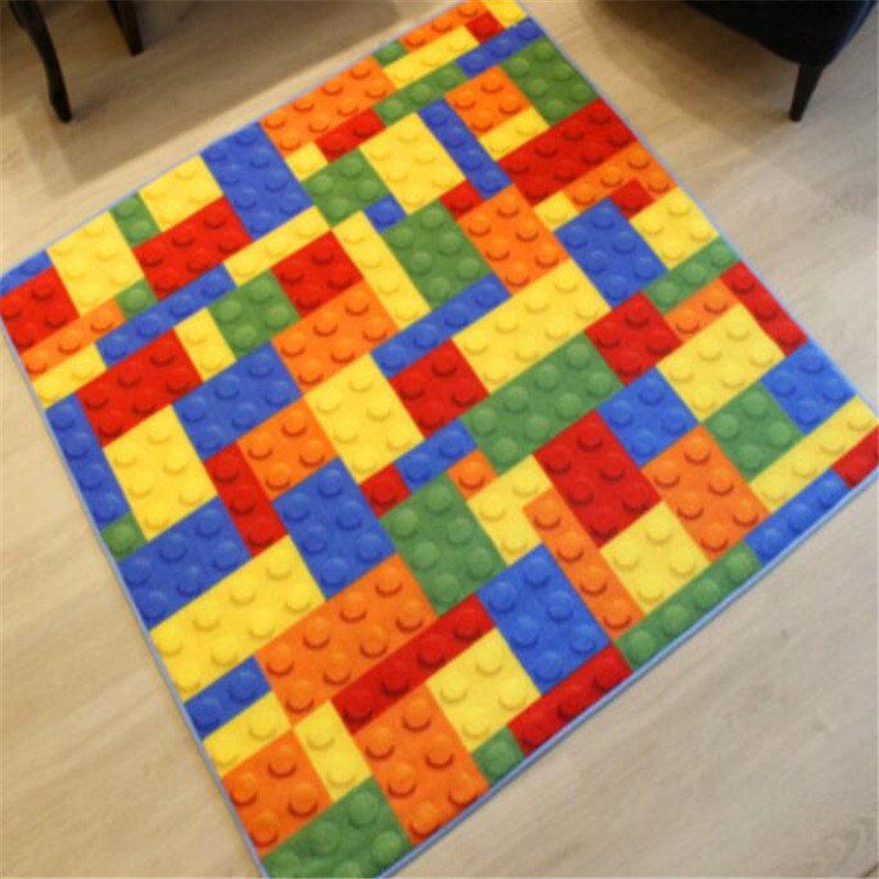 New Creative Building Block Colourful Puzzle Square Carpet Childrenu0027s Room  Essential Goods Washable Crawling Mat Bedroom