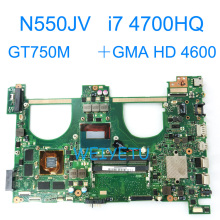 N550JV With i7-4700HQ GT750M  Motherboard For Asus N550 N550JK G550JK Q550J Q550J G550J N550J N550JX Laptop Mainboard REV 2.0 i7 7500 8gb gt940m rev 3 1 3 0 ddr4 x556uv x556uqk motherboard for asus x556u x556uj x556uf x556ur laptop motherboard mainboard