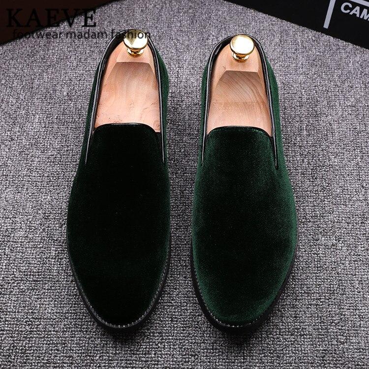 2016 г.; винтажная бархатная мужская повседневная обувь; летние зеленые лоферы; дышащие тапочки на плоской подошве; Мокасины с красной подошвой; Мужская обувь; Zapatos Hombr - 2