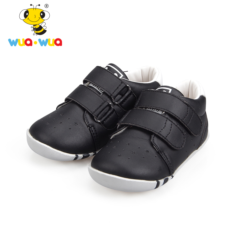 Wua Wua Brand Baby Girls Boys First Walkers Shoes Warm Fleece Infant Shoes Casual White Shoes For Newborn PU Leather Sneakers baby shoes sport sneakers children rubber boots first walkers baby schoentjes items shoes infant boys girl 503093