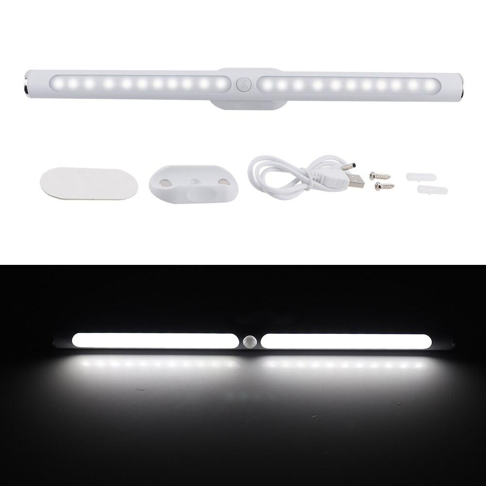 BORUiT 22LED 30 centímetros USB Recarregável Motion Sensor LED Luz de Armário de Cozinha Quarto Luz Da Noite Da Lâmpada Do Armário Sem Fio com Bateria
