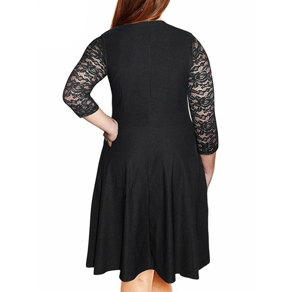 7d779a0f29d8f US $13.85 35% OFF|Autumn Women Plus Size Lace Party Blue dress Ladies Short  Mini Vintage Bohemian Dress Roupa feminina Vestido festa Elbise-in Dresses  ...
