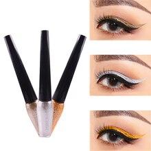 2019 New Waterproof Glitter Creamy Eyeliner Liquid Eyeshadow Long Lasting Eye Gloss Cosmetics Makeup