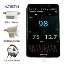 3 датчика, ручной мобильный Пульсоксиметр для новорожденных и взрослых детей, пульсиоксиметр для Android, мобильный телефон с функцией OTG
