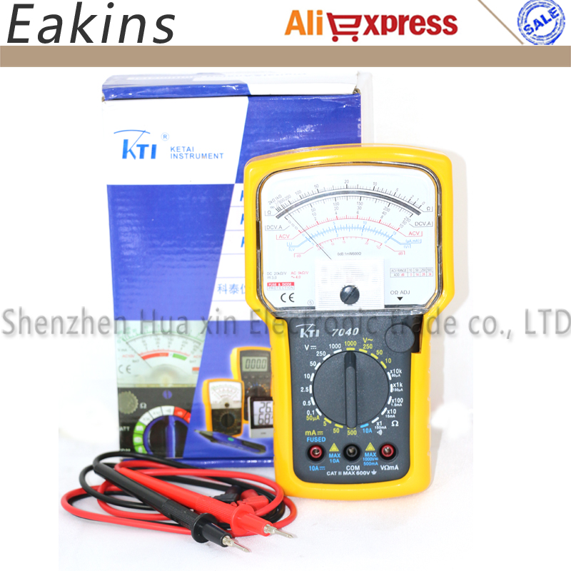 Free shipping High precision High sensitivity Pointer Multimeter Ohm Test Meter Analog Multimeter KT7040