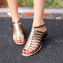 Women's Sandals Med Heel Comfortable Brand Designer Strapy Elegant Heels Summer Shoes Women High Quality Plus Size Sandalias Hot