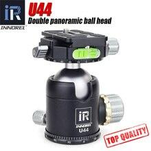 INNOREL U44 מצלמה חדרגל חצובה ראש 20kg עומס 44mm פנורמי כדור ראש 720 תואר עבור DSLR ניקון Sony canon מצלמה