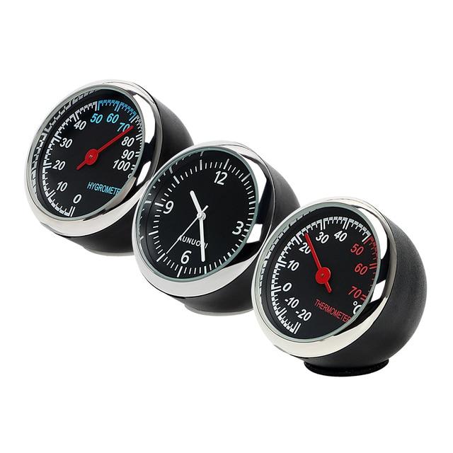Anti-Scratch Thermometer Hygrometer Mini Automobile Decoration Ornament Car Digital Clock Quartz Auto Watch Car-Styling