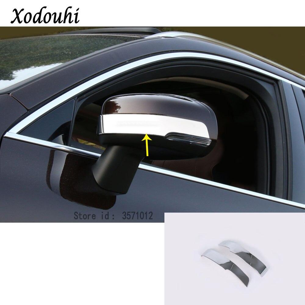 2 embellecedores cromados para espejo retrovisor lateral de coche Para XC60 2018 2019