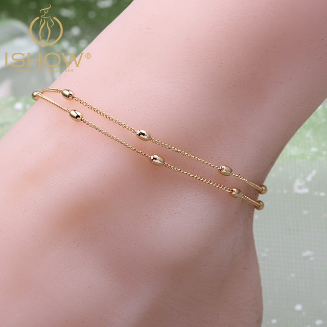 New Fashion Foot Jewelry Ankle Bracelet Gold Color Pulseras Hot Simple Chain Woman Anklets