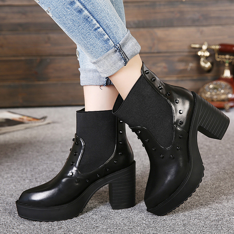 ФОТО Pointed Toe Slip-On Flat Women Ankle Boots With velvet Martin Winter/spring/autumn Ladies Casual Flat Shoes Free shipping88-3