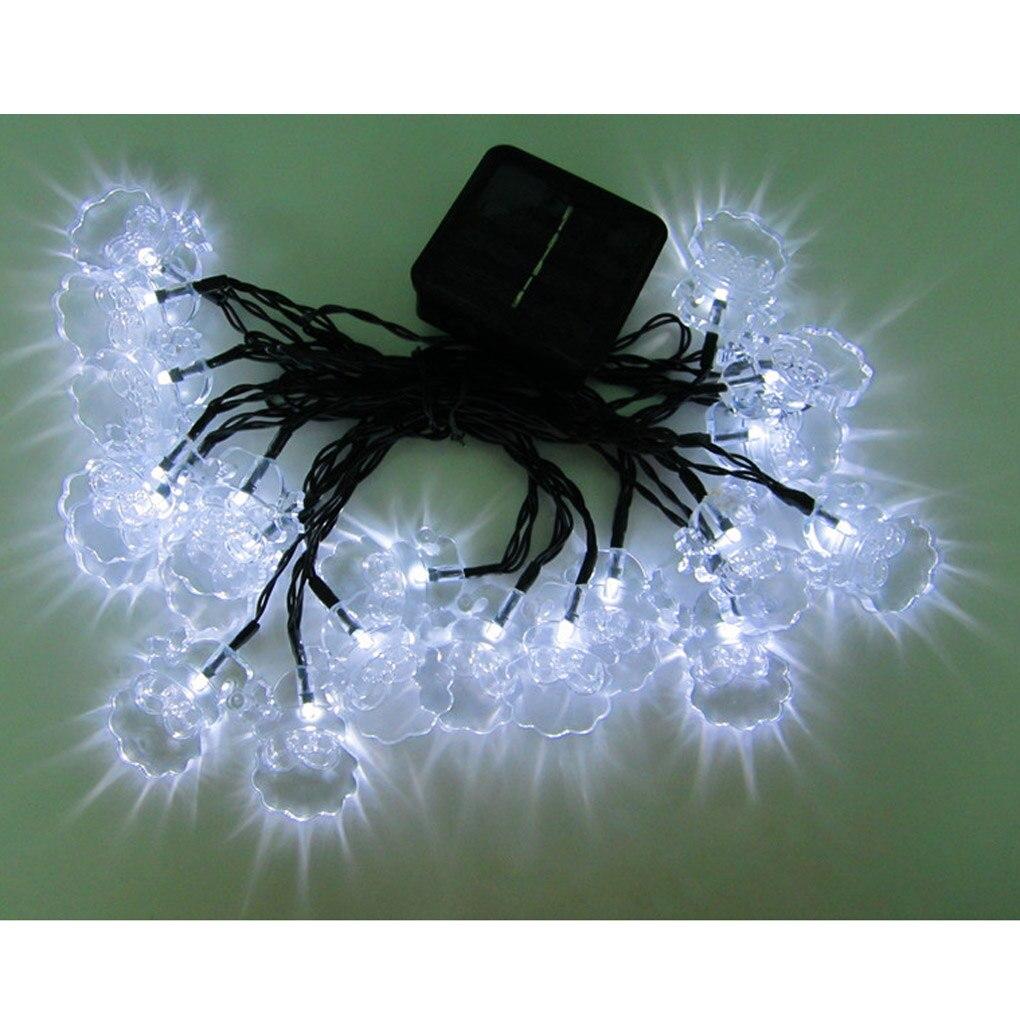 4,8 м 20LED солнечные Санта Клаус свет шнура для рождественской вечеринки ...