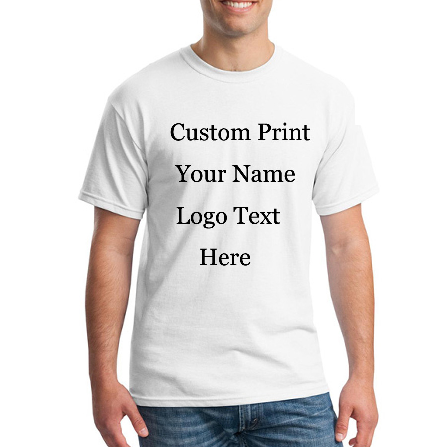 Custom tshirt logo text photo print men women kids for Custom printed dress shirts