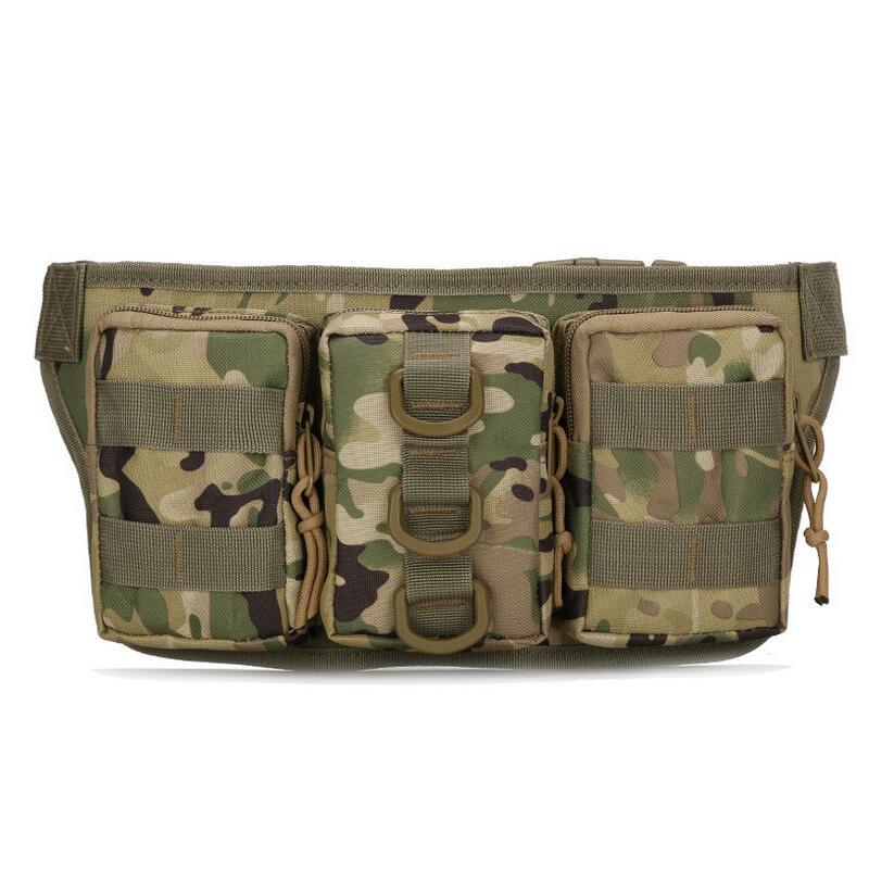 Portable Waist Belt Bag Military Tactics Camouflage Waterproof Waist Bags Belt Outdoor Riding Mountaineering Sports Bag