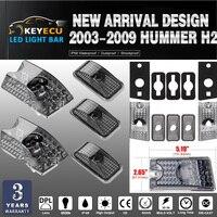 KEYECU 5pcs Set Smoke Lens Top Roof Cab Marker Light Cover Lens For 2003 2009 Hummer