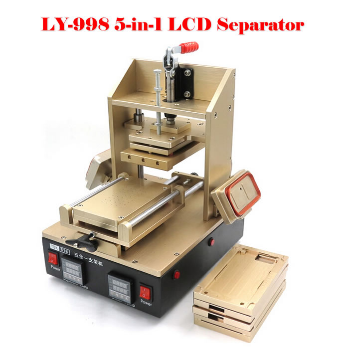 5 in 1 Multifunction Bezel Middle Frame Separator Machine + Vacuum LCD Separator + Glue Remover + Frame Laminator + Preheater 3 in 1 multifunction preheater station middle bezel frame separator machine vacuum screen separator machine