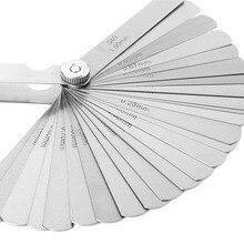 32 Blades Set Stainless Steel Feeler Gauge Metric 0.02-1.0mm Crevice Gauge Measurment Tool