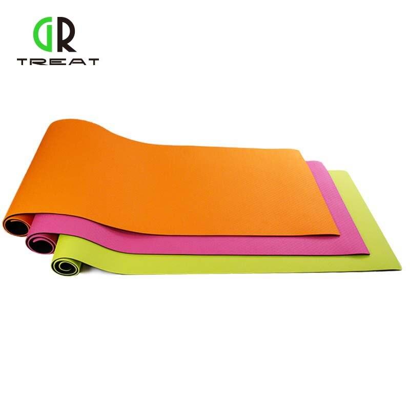 TPE tapis de yoga débutant hommes et femmes double side slip exercice de remise en forme tapis long et épais tapis de yoga
