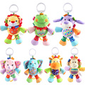 7 Styles 2017 Baby Toys Animal Baby Rattles & Mobiles Infant Plush Learning Products Kids Gift
