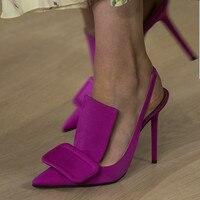 47a70a0ee1 Luxury Designers Women Shoes Yellow Slingbacks High Heels Pumps Big Sqaure  Buckle Dress Shoes Woman Runway