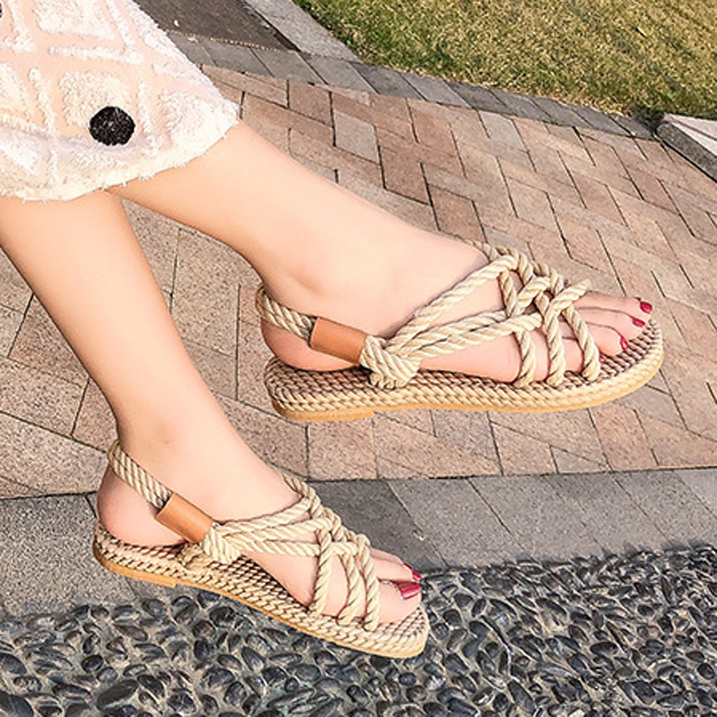 HTB18tg7dLWG3KVjSZPcq6zkbXXaG - SAGACE Sandals Woman Shoes Braided Rope With Traditional Casual Style And Simple Creativity Fashion Sandals Women Summer Shoes