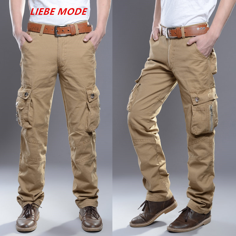 Military Style Plus Size Cargo Pants For Men Tactical Pants with Multi Pocket Black Khaki Green Mens Casual Pants Hombre