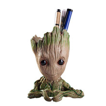 Flower Pot Baby Groot Flowerpot Cute Toy Pen Pot Holder PVC Hero Model Baby Tree Man Garden Plant Pot Groot(China)