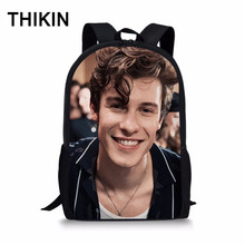 THIKIN Mendes Shawn Student School Bag Canada Songwriter Printed Polyester Backpack Women Daily Mochila Customize