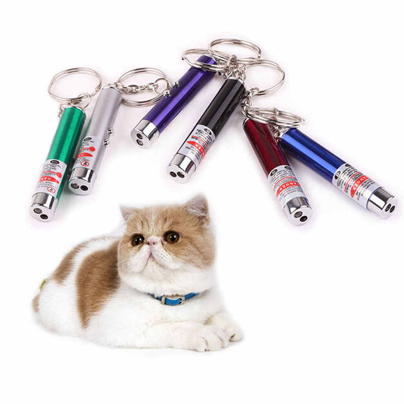新クール 2 In1 赤色レーザーポインター白色 Led ライト子供再生猫のおもちゃ