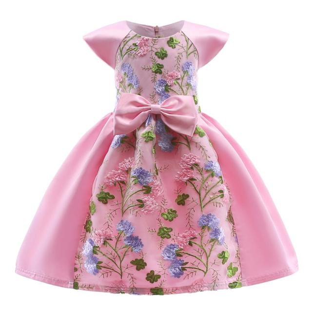 9ef67ee56 Winter Lace Embroider Kids Girls Elegant Wedding Flower Girl Dress Princess  Party Pageant Forma Lace Tulle Dresses Girl 3-10 Y