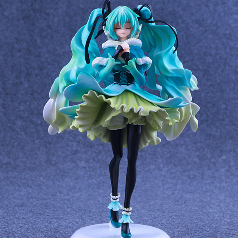 Anime Figure 28cm Hatsune Miku Snow in Summer 1/7 Scale Pre-painted PVC Action Figure Collectible Model Toy with box xx0165 бодибар px sport bc213 2кг