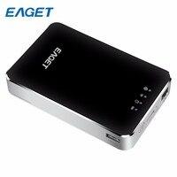 Горячие Eaget Беспроводной WI FI внешний жесткий диск USB 3.0 1 ТБ высокое Скорость внешний жесткий диск с 3G маршрутизатор 3000mA Батарея мобильный Зап