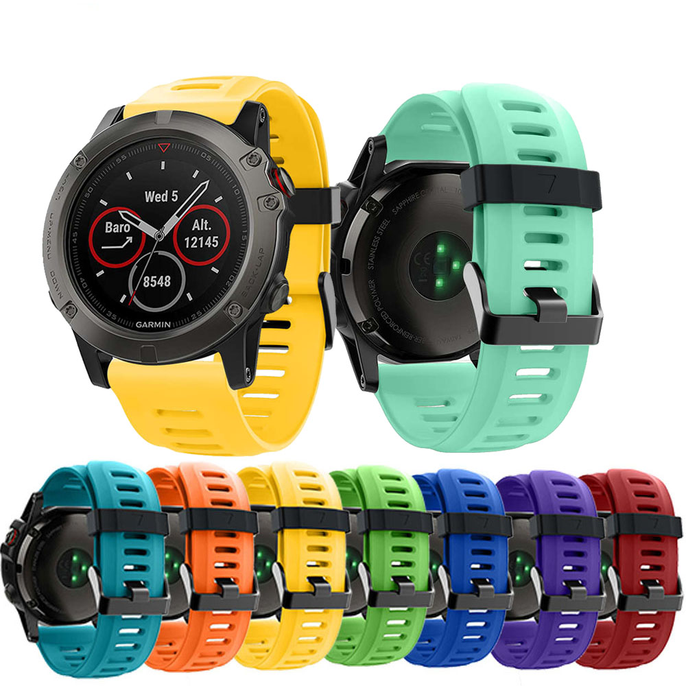 Sport Watchband Strap for Garmin Fenix 5X 26mm Bracelet Replacement  Band Straps 3/3HR 5x/5x Plus Wriststrap