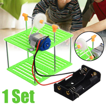DIY Electric Cable Car Kids Educational Toy Physics Car Toy Electric Model Educational Learning Toy Car