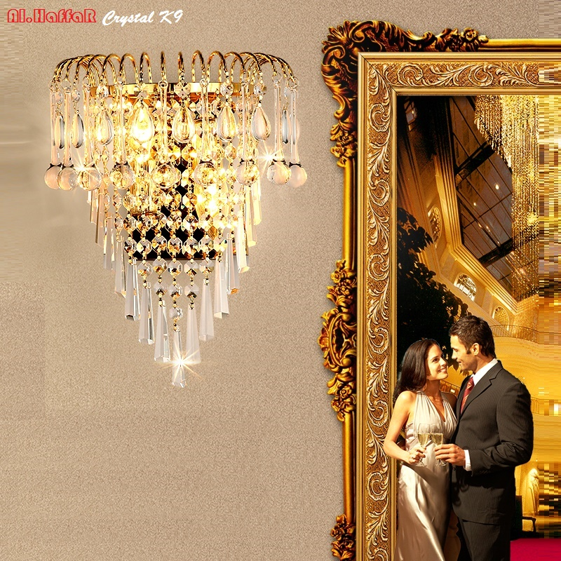 Luxury Wall Sconce Fixture K9 Crystal Wall Light Sconces ... on Wall Sconce Lighting Decor id=36664