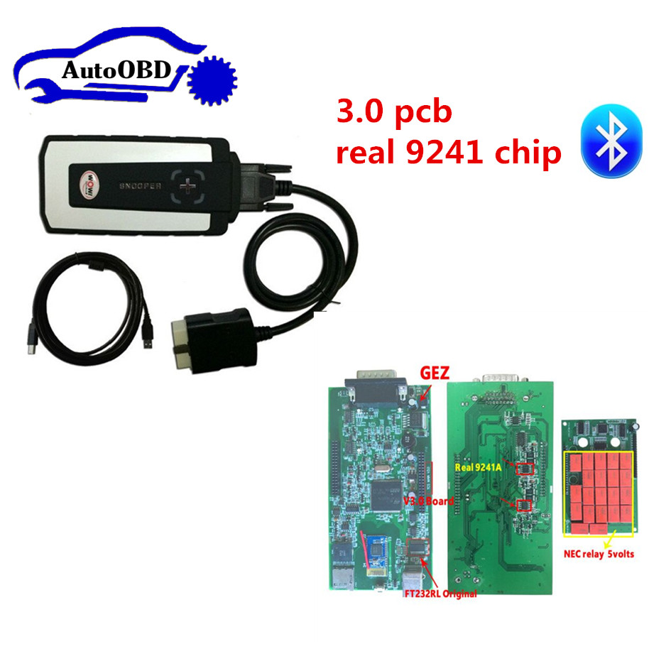 Wow Snooper Cdp With Bluetooth 2016.00 Or V5.00.8r2 Keygen For Delphis Obd2 Diagnostic Tool+full Set 8pcs G-m 12pin Car Cables Superior Quality In