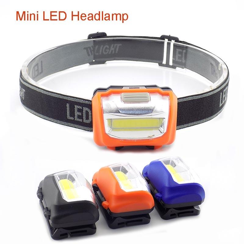 Mini LED Headlamp COB Headlight Frontal Flashlight Head Torch Night Lamp Lantern Super Bright Head Lamp For Camping AAA Battery