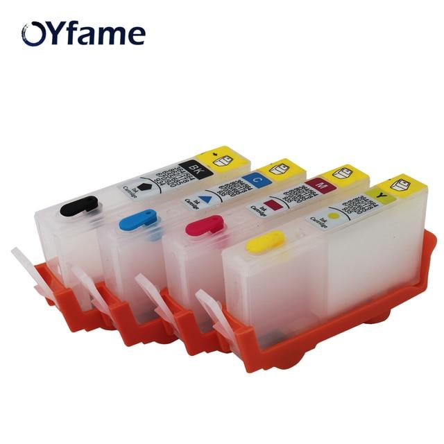 עבור HP178 178XL Refillable מחסנית דיו עבור HP 178 Photosmart 5510 5515 6510 7510 B109a B109n B110a מדפסת עם שבב 4 צבע
