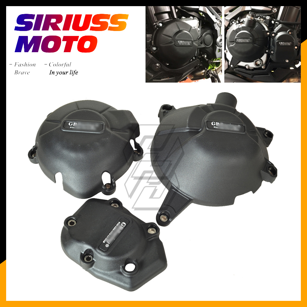Motorcycle Engine Protection Water Pump Cover Kit Case for GB Racing for Kawasaki NINJA Z900 2017